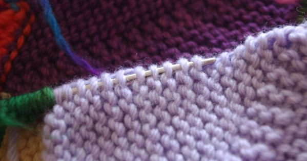 Knitting Pick Up Stitches Along Curved Edge : Picking up stitches along a garter edge. Tips, techniques, tutorials - Knit...