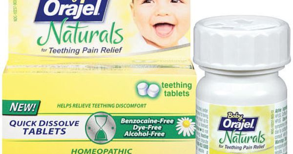 Baby Orajel Naturals Teething Tablets My Fave These