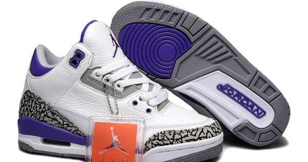 air jordan 3 retro basket jordan pas cher chaussure pour femme blanc bleu mode sportswear pinterest