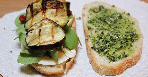 Eggplant Mozzarella Panini | Recipe | Paninis, Eggplants and ...