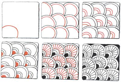 Pix For Gt Simple Zentangle Patterns Step By Step Zentangle