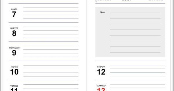 Plantilla agenda 2017 gratis para imprimir - Agenda imprimible 2017 ...