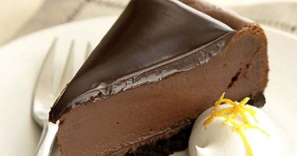 Deliciously Dark Chocolate Cheesecake made with Dove chocolate...This sounds like an Angela