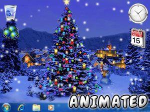 Fondo De Pantalla De Arbol De Navidad 3d Animado Gratis Para