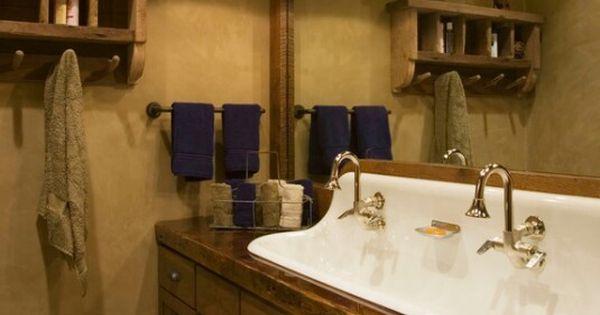 Western Style Old Fashioned Bathroom Bathrooms Pinterest Western Style Rustic Bathrooms