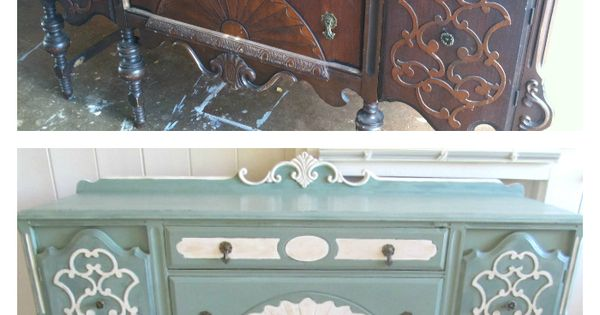 The art deco sideboard in a custom cece caldwell mix for Cece caldwell kitchen cabinets