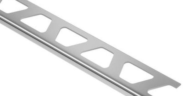 Schluter Systems Schiene Aluminum 5 16 In X 8 Ft 2 1 2 In Metal L Angle Tile Edging Trim A80 The Home Depot Tile Edge Tile Edge Trim Metal Edging