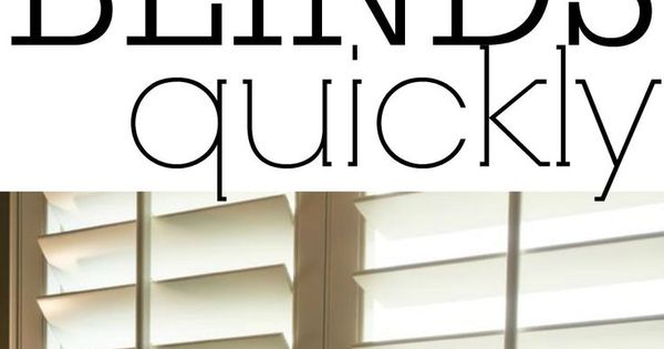 how to clean wood blinds easily
