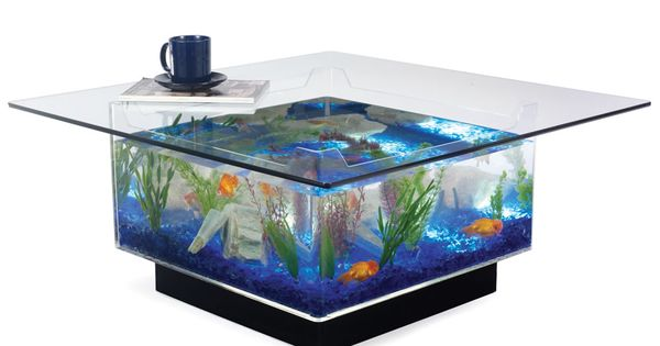 Aquarium Coffee Table: so cool, but it would never make in a