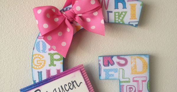 Items similar to Super-Duper Embellished Letters: cute & custom made for weddings