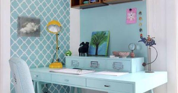 papier peint motif g om trique pour bureau brico et diy. Black Bedroom Furniture Sets. Home Design Ideas
