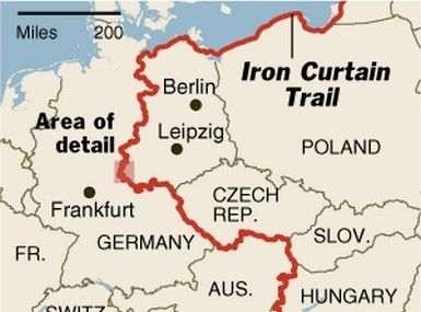 This Is A Image Of The Iron Curtain Of The Border Of East And