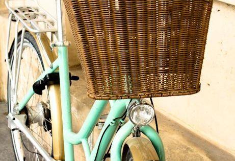 D co vert menthe l 39 eau blog deco diy bicyclettes v los et menthe - Deco jardin velo paris ...