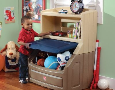 Step2 Lift And Hide Bookcase Storage Chest Blue Bookcase Storage Kid Toy Storage Toy Storage Boxes