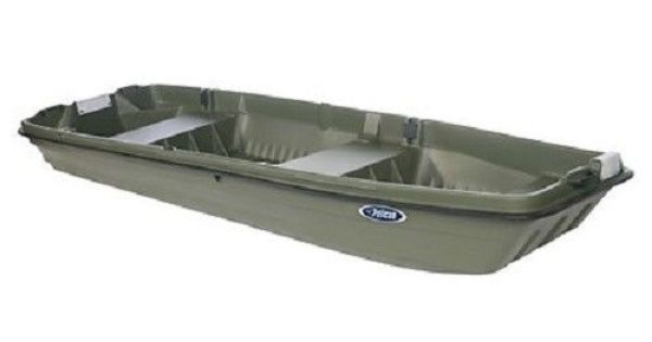 Pelican intruder 12 2 person boat fishing bass boat flat for Flat bottom fishing boats