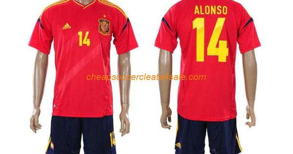 cheap adidas spain national team 2012 2013 xabi alonso number 14 soccer jerseys home red national