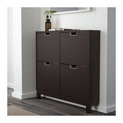 Stall Shoe Cabinet With 4 Compartments White 37 3 4x35 3 8 Ikea Shoe Cabinet Wood Shoe Storage Ikea Shoe Cabinet