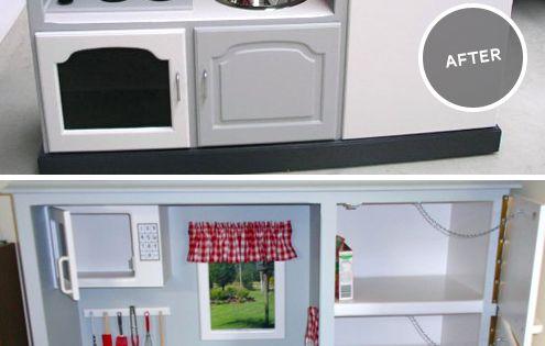 Play kitchen - maybe my favorite diy kitchen!