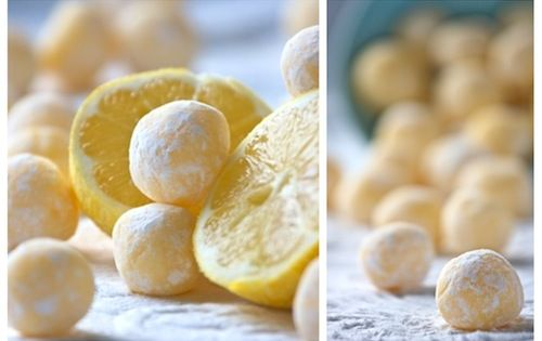White Chocolate Lemon Truffles - for cookie trays