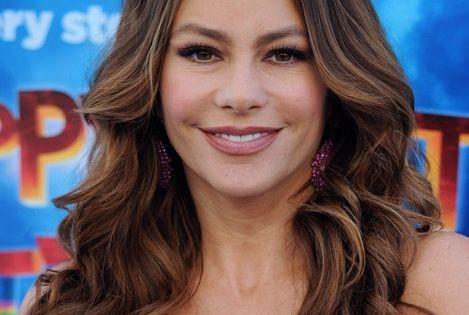 Sofia Vergara Long Wavy Cut Brown Hair Dark Brown And