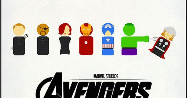 Cute Avengers... Haha Hulk smash. Inside joke if you have seen the