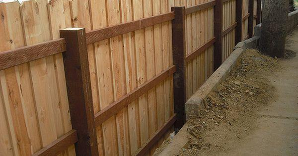 Custom Board On Board Overlap Cedar Dog Ear Fence With 4x6 Posts 3 Ridgemont Dr Hollywood Hills Los Angeles 90046 Dog Ear Fence Cedar Fence Fence