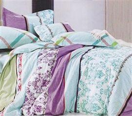 Twin Xl Sunset Aqua Designer Extra Long Twin College Comforter Dorm Bedding For Girls Dorm Bedding Designer Dorm Bedding Comforter Sets