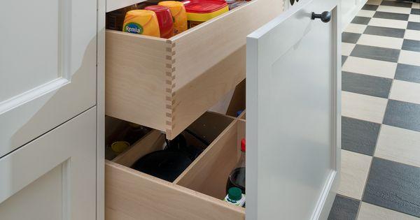 Vri interieur landelijke keuken modern wit en grijs met houten laden nieuwe keuken pinterest - Redo keuken houten ...