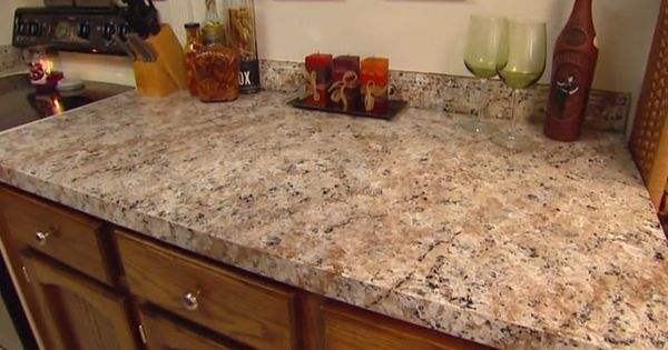 How To Apply Faux Granite Kitchen Countertop Paint Via