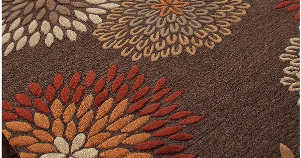 Modernrugs Com Orange Red Brown Beige Floral Modern