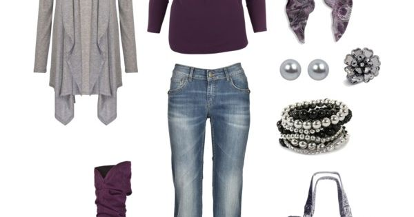 Fall Outfit. Love the purple boots.