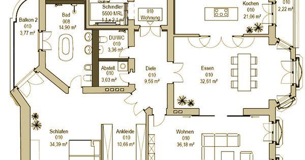 Grundriss einer wohnung im maison ouest geb ude in berlin for Hausplanung berlin