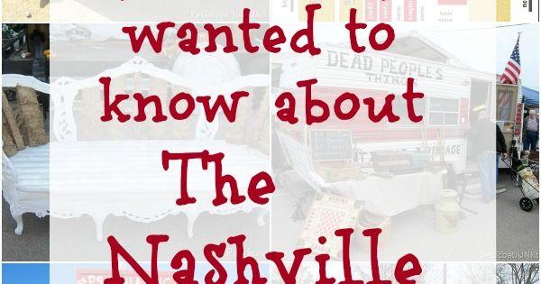 Nashville Flea Market Information Including Times And