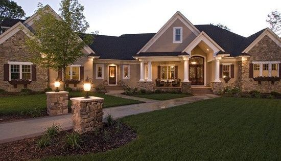 Beautiful sprawling ranch style home ranchhomes for Custom ranch home plans