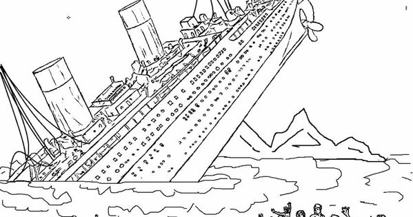 printable titanic coloring pages for kids cool2bkids miscellaneous coloring pages pinterest