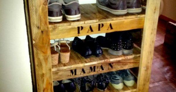Meuble a chaussure en bois de palette rejoignez moi sur - Meuble a chaussure en palette ...