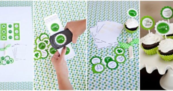 Cute cupcake printables for St. Patricks day
