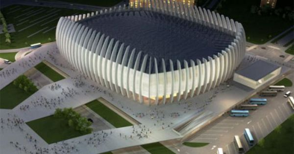 Croatian Architectural And Engineering Firm Upi 2m Designed The Recently Completed Arena Zagreb A Multi Purpose Sports Zagreb Modern Architecture Architecture