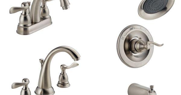 bathroom plumbing fixtures delta windemere brushed nickel 1527