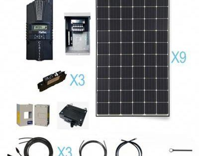 Renogy 2700 Watt 48 Volt Monocrystalline Solar Cabin Kit For Off Grid Solar System With Images Solar Panels Solar System Kit Solar Energy Panels