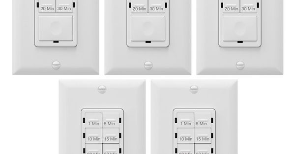 Enerlites Bathroom Timer Countdown Switch Het06a In Wall Electrical Timer For Fans Electrical Outlets Indoor And Outdoor Lights With On O Electrical Outlets