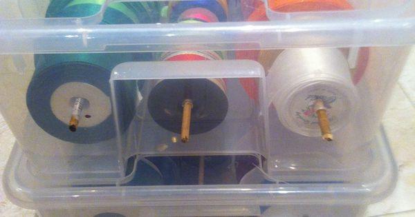 Acrylic Box Tutorial : How to organize ribbon box recipe plastic containers