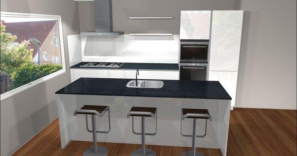 Ontwerp van keuken met kookeiland eiland keukens pinterest showroom and vans - Deco keuken ontwerp ...