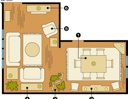Room arrangements for awkward spaces awkward spaces and for Mobile home furniture arrangement