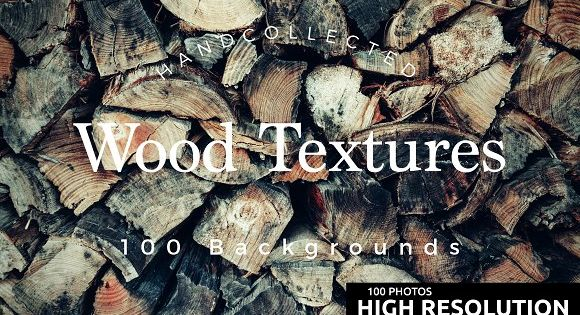 100 Ultra Hi-Res Wood Textures – inspired by nature and were found in old barns, sheds and forests