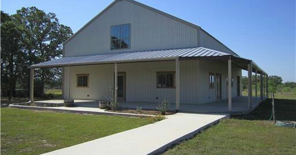 Two story with wrap around porch barndominium pole barn for Garage column wrap