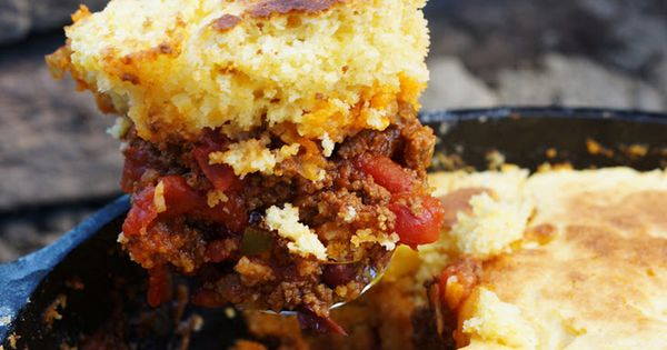 CAMP CHILI & CORNBREAD Recipe Main Dishes with ground beef, onions ...