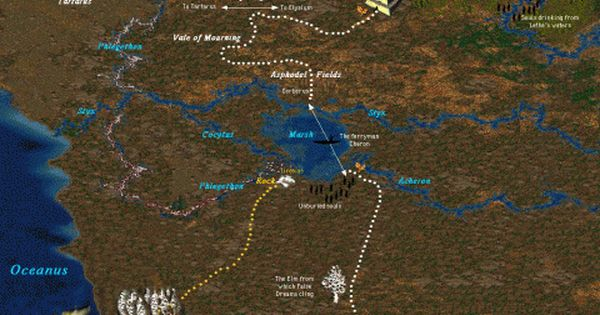 Kerberos Moon Of Plluto: Greek Mythology - Underworld Map, River Styx