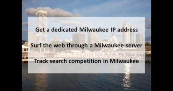 Milwaukee Wi Private Proxies Buy Milwaukee Proxy Servers Pk