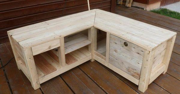 Meuble t l bar en palette de r cuperation meubles et for Acheter canape en palette